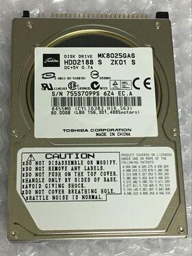 "Toshiba MK8025GAS 80GB IDE 2,5"" 4200 RPM Festplatte Hard Drive"